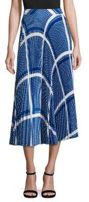 MSGM Keffiyeh Print Plisse Skirt