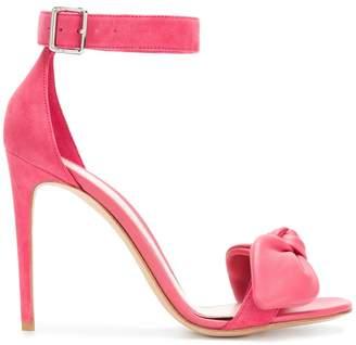 Alexander McQueen bow detail heeled sandals