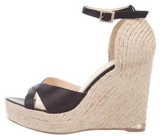 Paloma Barceló Palomitas by Leather Wedge Espadrilles
