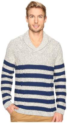 Nautica 3 Gauge Shawl Pullover Men's Sweater
