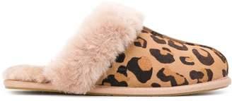 UGG leopard-print shearling slippers