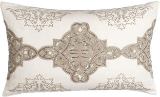 "Callisto Home Avalon Sequined/Beaded Pillow, 16"" x 26"""