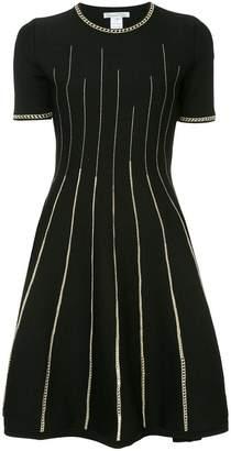Oscar de la Renta flared pleated dress