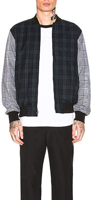 Stussy Mixed Plaid Bomber
