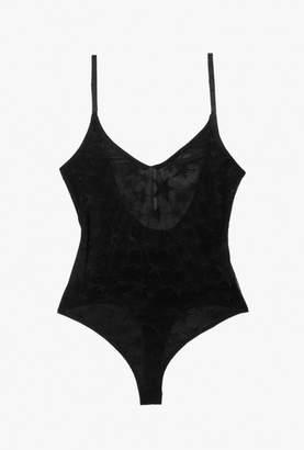 Azalea Star Sheer Strap Bodysuit