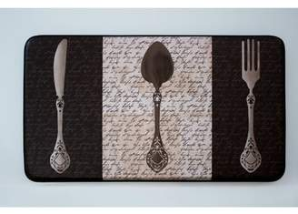 Chef Gear French Utensils Faux Leather Anti-Fatigue Cushioned Chef Mat