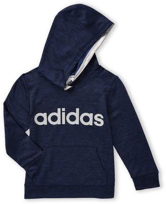 adidas Boys 4-7) Melange Athletic Long Sleeve Hoodie