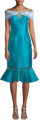 Sachin + Babi Gulmek Cuffed Bustier Dress Taffeta