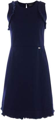 Armani Exchange Fit & Flare Dress in evening Blue