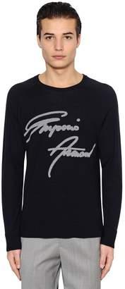 Emporio Armani Signature Wool Jacquard Sweater