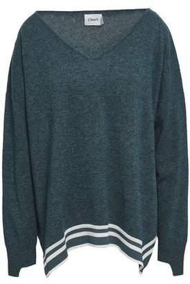 Charli Nanci Striped Wool And Cashmere-Blend Sweater