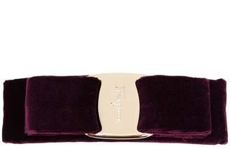 Salvatore Ferragamo velvet Vara bow clip