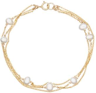 Lily & Roo Solid Gold Layered Pearl Bracelet