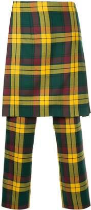 Comme des Garcons Pre-Owned tartan apron trousers