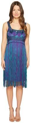 Alberta Ferretti Sleeveless Fringe Dress Women's Dress