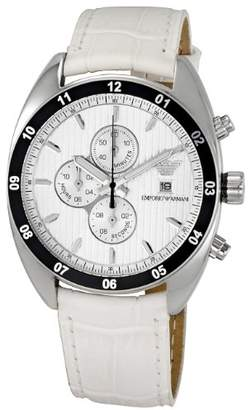 Emporio Armani Men's 'Sportivo' Quartz Stainless Steel and Leather Casual Watch