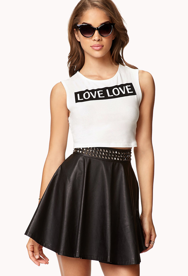 Forever 21 Love Love Crop Top