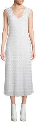 Missoni Sleeveless Shimmered V-Neck Dress
