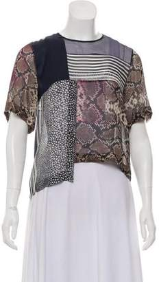 Preen by Thornton Bregazzi Sheer Silk Crop Top