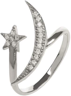 Latelita London - Moon & Star Ring Sterling Silver