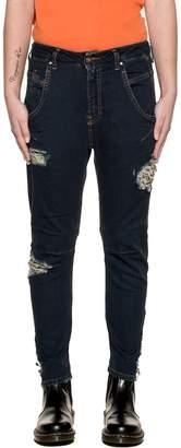 Diesel Dark Blue Fayza-ne Denim Jeans