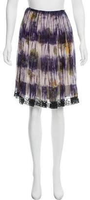 Prada Silk Tie-Dye Skirt