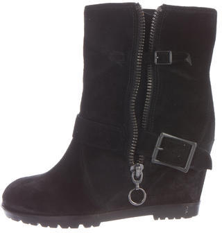 AshAsh Subway Suede Moto Ankle Boots