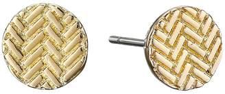 Cole Haan Etched Basket Weave Stud Earrings Earring