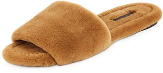 The Row Ellen Mink Fur Slide Sandal