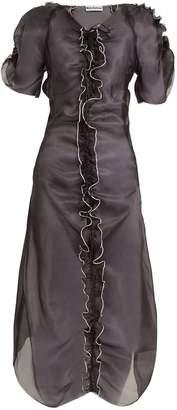 MOLLY GODDARD Erin ruffle-trimmed silk-organza dress