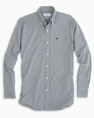 Southern Tide Gameday Gingham Intercoastal Performance Shirt - University of Georgia