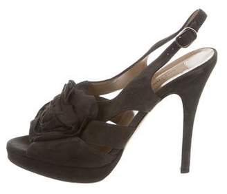 Valentino Rosette Cage Sandals