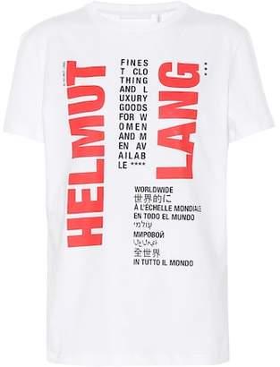 Helmut Lang Printed cotton T-shirt