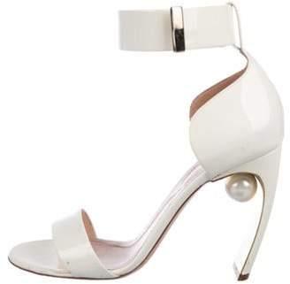 Nicholas Kirkwood Maeva Patent Leather Sandals gold Maeva Patent Leather Sandals