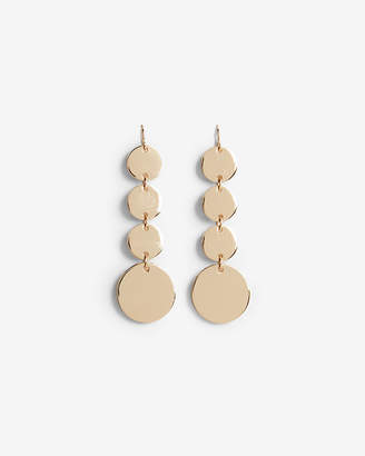 Express Linear Disc Drop Earrings