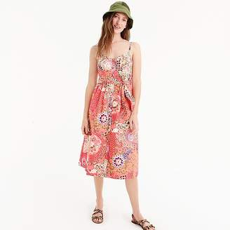 J.Crew Classic button-front sundress in cotton poplin paisley