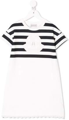 Moncler striped logo patch dress