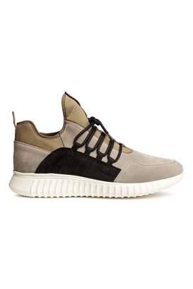 H&M Suede Sneakers - Beige - Men