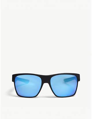 994985e26bf Oakley Mens Black Modern Twoface Xl Square-Frame Sunglasses
