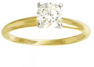 Affinity Diamond Jewelry Diamond Solitaire Ring, 3/4cttw, 14K Yellow Gold, by Affinity