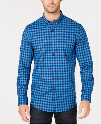 Club Room Men's Stretch Gingham Shirt
