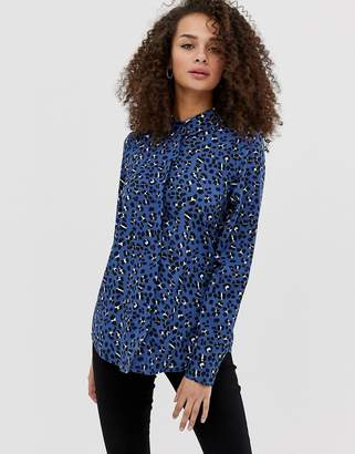Brave Soul leopard print long sleeved shirt