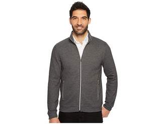 Perry Ellis Solid Heathered Full Zip Knit Jacket Men's Jacket