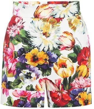 a184b84b Dolce & Gabbana Floral stretch cotton shorts