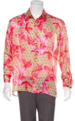 Versace Silk French Cuff Shirt