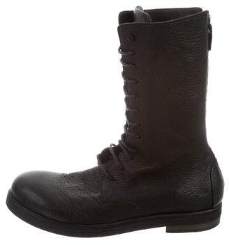 Marsèll Leather Combat Boots