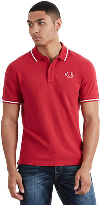 True Religion BUDDHA SCHOOL MENS POLO SHIRT