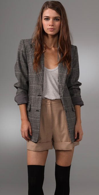 Club Monaco Max Plaid Blazer