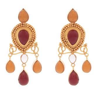 Carousel Jewels - Red Onyx & Carnelian Earrings