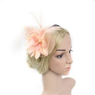 Yiweir Women Netting Headdress Accessory Derby Fascinators Hat Bridesmaid